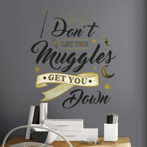 Sticker mural Harry Potter Muggles Quote