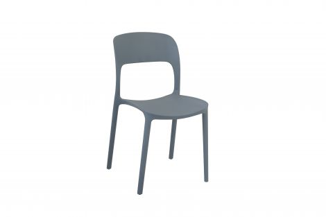 Lot de 4 chaises Carla - gris
