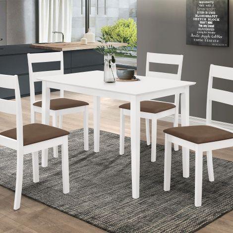 Table et 4 chaises Damir - blanc