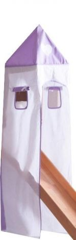 Tente tour - violet/blanc coeur