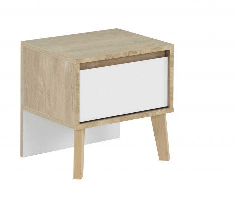 Table de chevet Lina - blanc