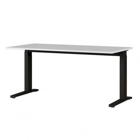 Bureau Osmond 160cm réglable en hauteur - gris clair/noir