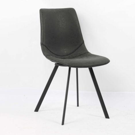 Lot de 2 chaises Norway - noir