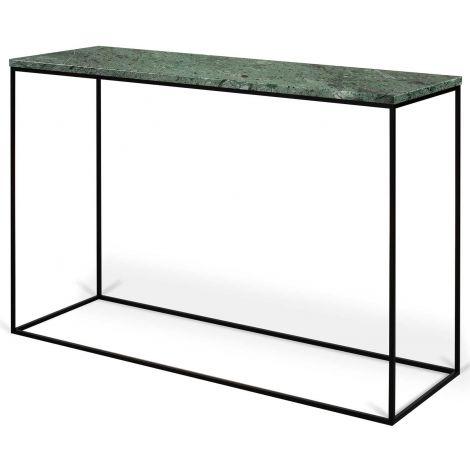 Console Gleam - marbre vert/acier