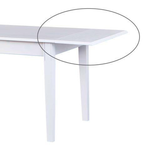 Rallonge 40 cm pour table à manger Westerland blanche