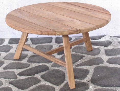 Table d'appoint extérieur Wyatt Ø80 - teck