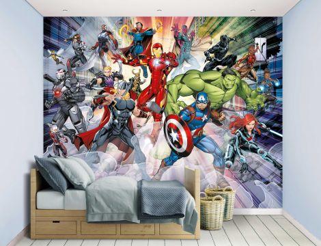 Papier peint pour enfants Avengers