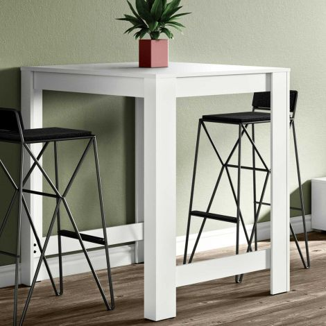Table de bar Parnal 110x70 - blanc