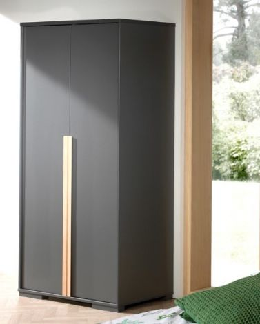 Armoire London 2 portes - anthracite