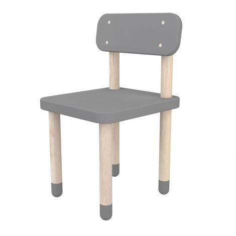 Chaise enfant Flexa Play avec dossier - gris