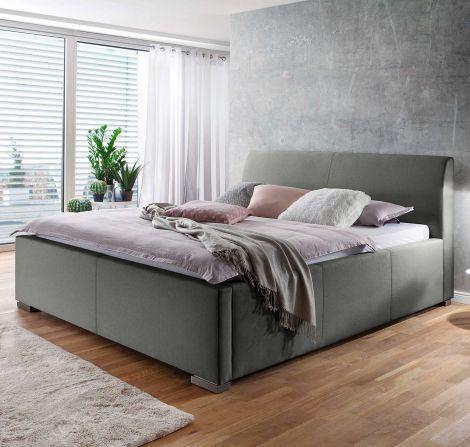 Lit coffre Homera 120x200 - gris clair (tête de lit lisse)