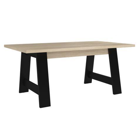 Table à manger Maxy - chêne/noir