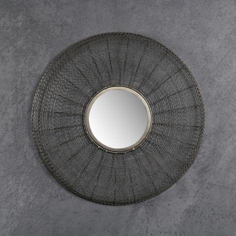 Miroir Ø65 web - Nickel noir