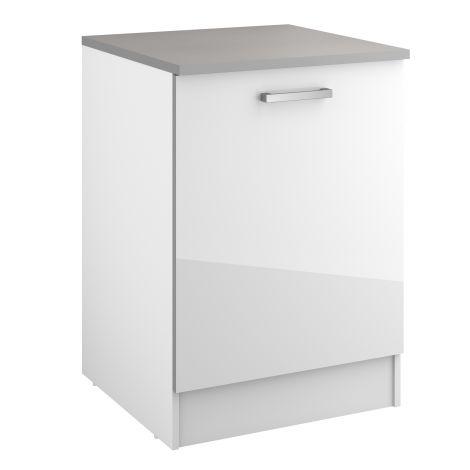 Meuble bas Eli 60 cm avec porte - blanc