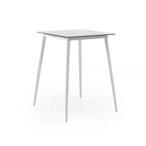 Table de bar Luca 80x80 - blanc