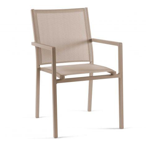 Chaise de Jardin Arianne - champagne/taupe clair