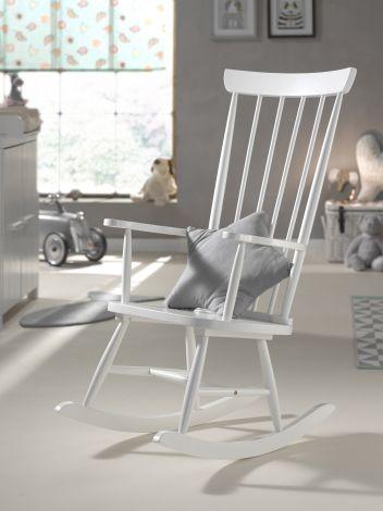 Chaise à bascule Rocky - blanc
