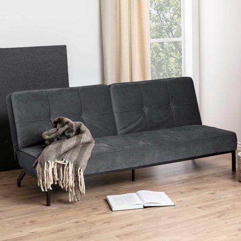 Canapé-lit Giovanni - gris foncé/noir