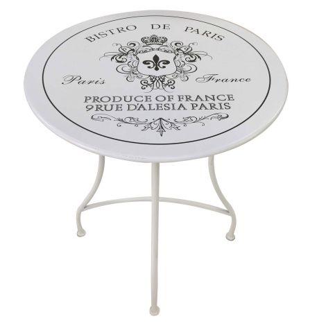 Table de jardin Bistro - blanc