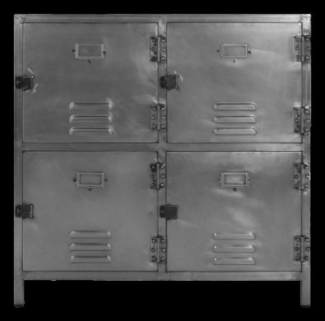 Armoire de vestiaire York - fer - acier naturel