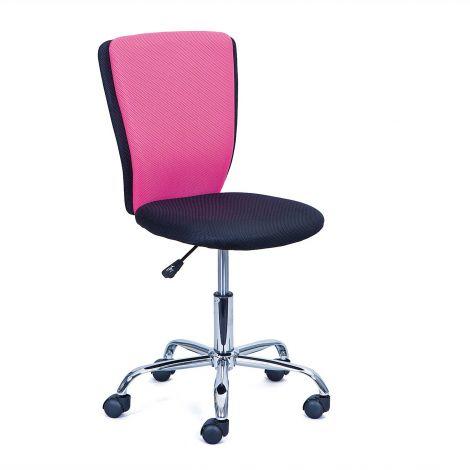 Chaise de bureau CC - noir/rose