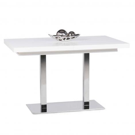 Table à manger extensible Quadrato 120/200 - blanc