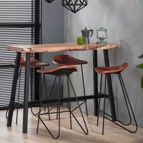 Table de bar Evelyn 125cm