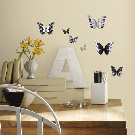 Stickers muraux - Papillons 3D