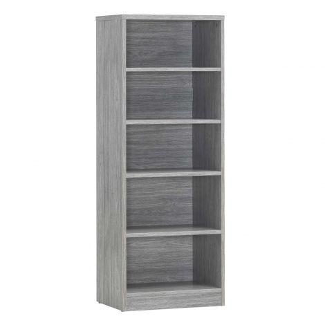 Bibliothèque Spacio 55cm à 4 tablettes - chêne gris