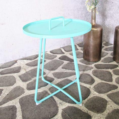 Table d'appoint Jennifer Ø50cm - bleu