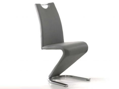 Lot de 2 chaises Lineo - gris