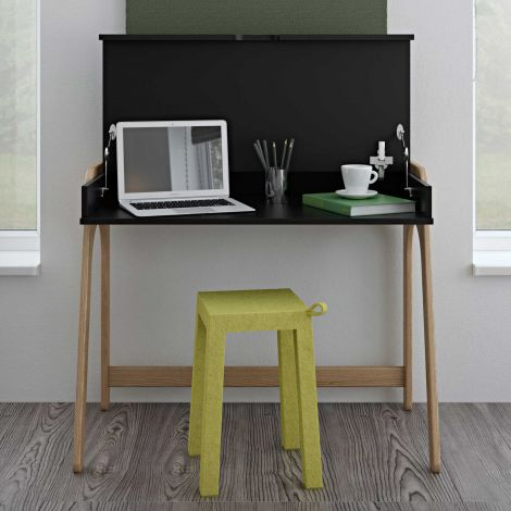 Bureau Aura - noir/chêne