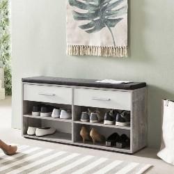 armoire à chaussures avec coussin